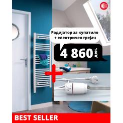 Радијатор за купатило + електричен грејач