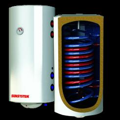 BURNIT Електричен бојлер со две спирали 100л